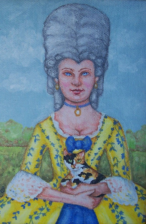 """Lady Abigail's Kitten"" Greeting Card"
