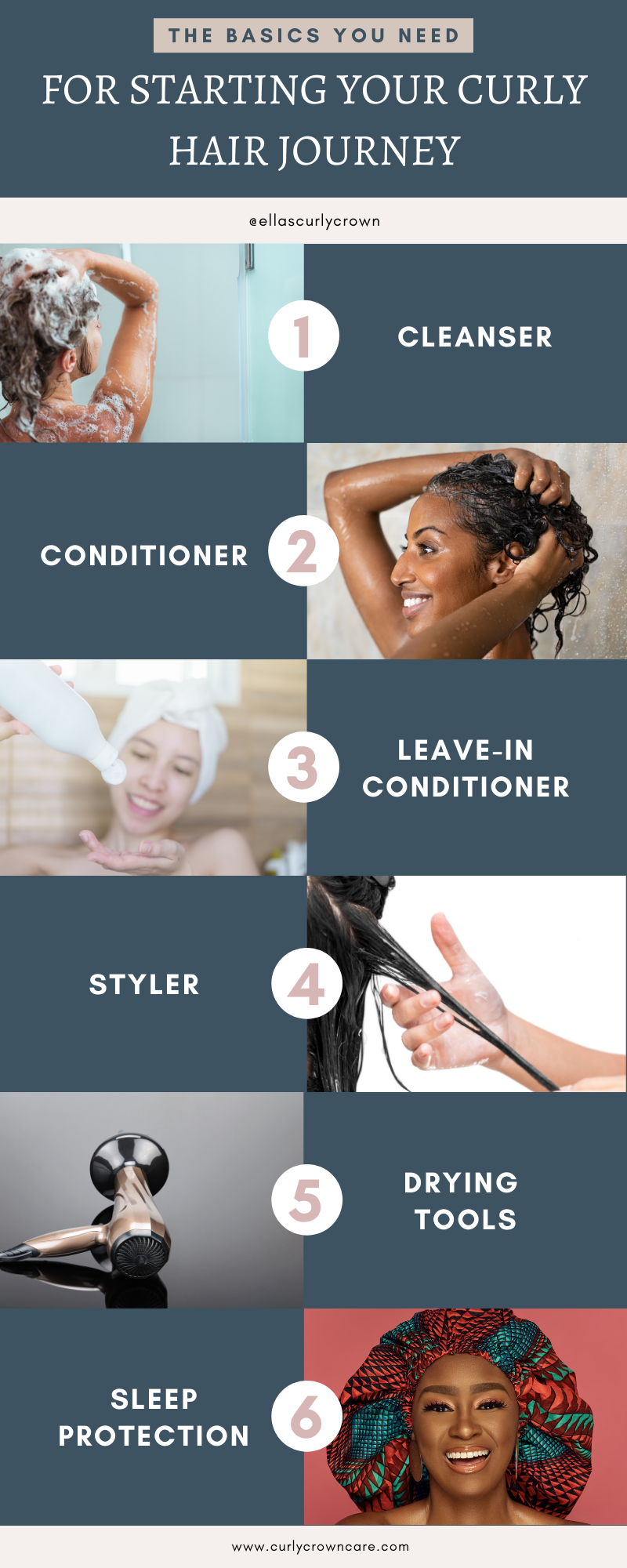 Basics to start your curly hair journey