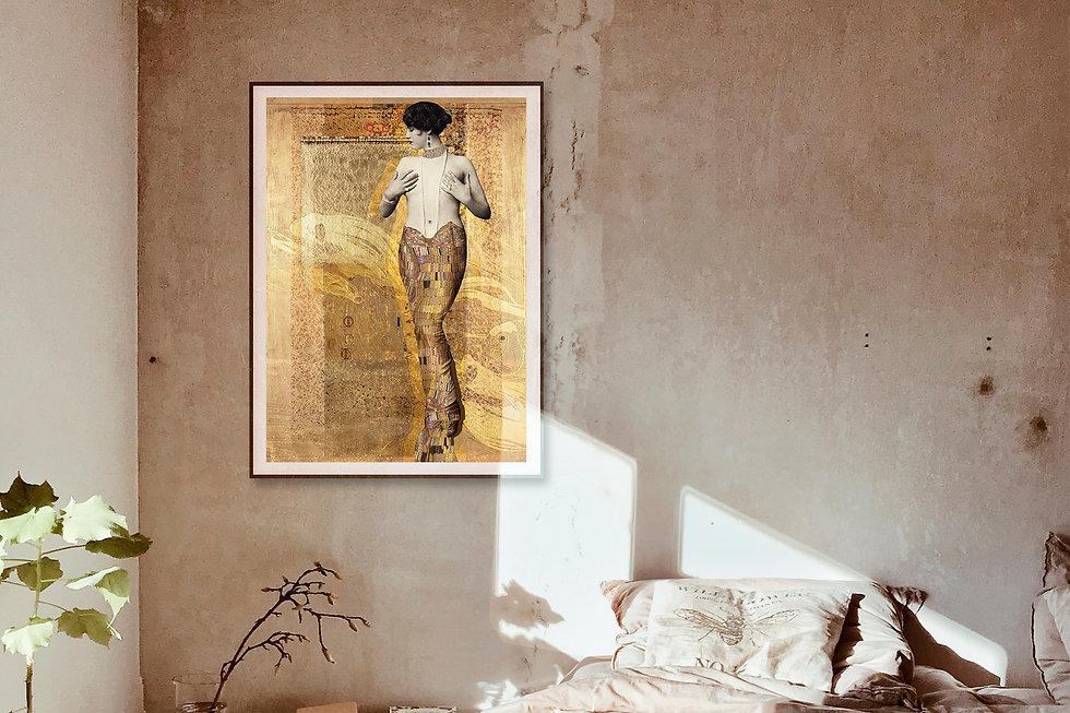 Art mural photomontage