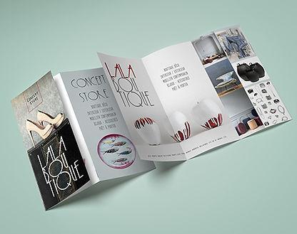 creation graphique depilants et brochures