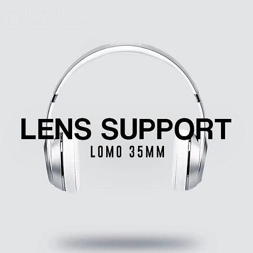 Lens Support For Collar Attachment