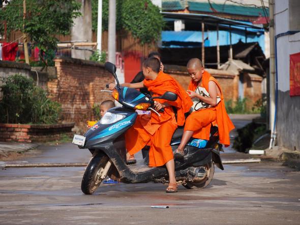 09. Xishuangbanna, China - Kids on Bike.