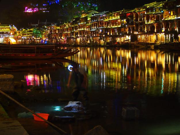 07. Fenghuang, China - Fisherman at Nigh