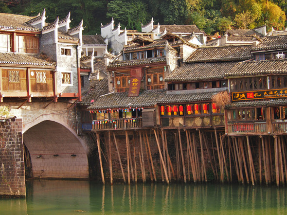 05. Fenghuang, China - Rickety Structure