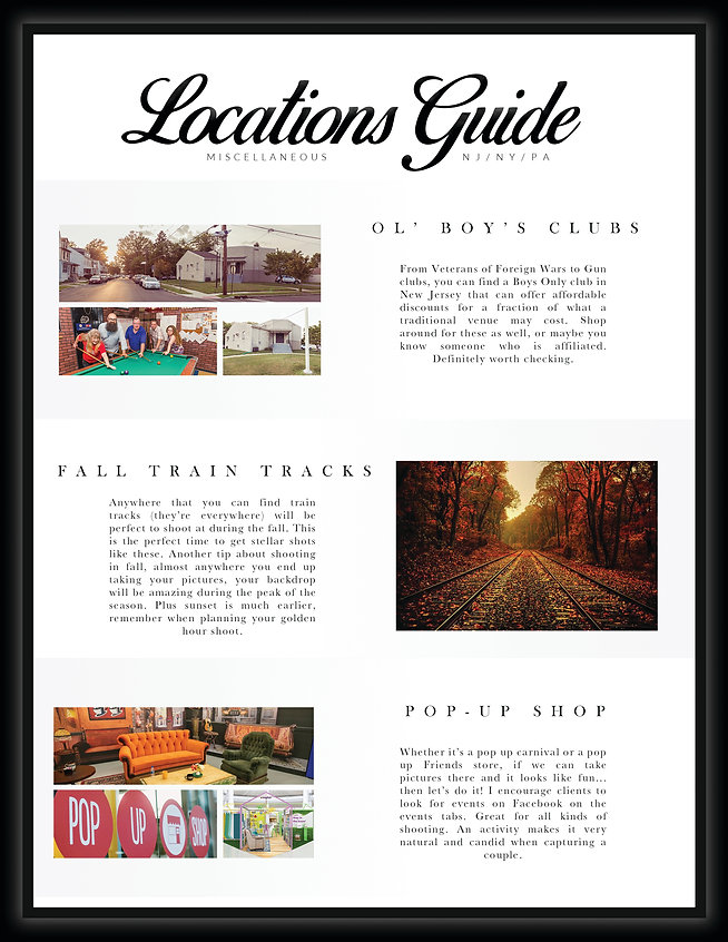 ol boys clubs, fall train tracks, pop up shop louiscaberaweddings locations guide new jersey, nyc, philly, tri state area, locations guide
