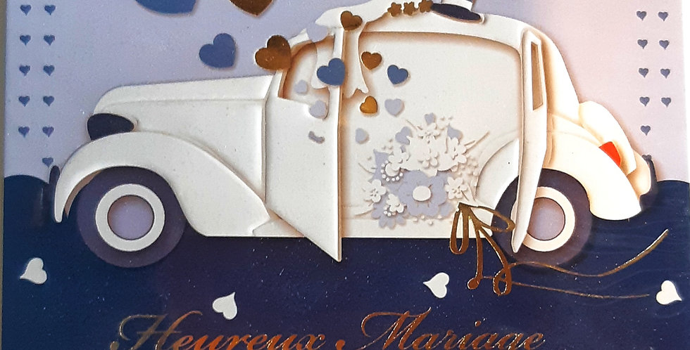 "Carte ""Heureux Mariage"""
