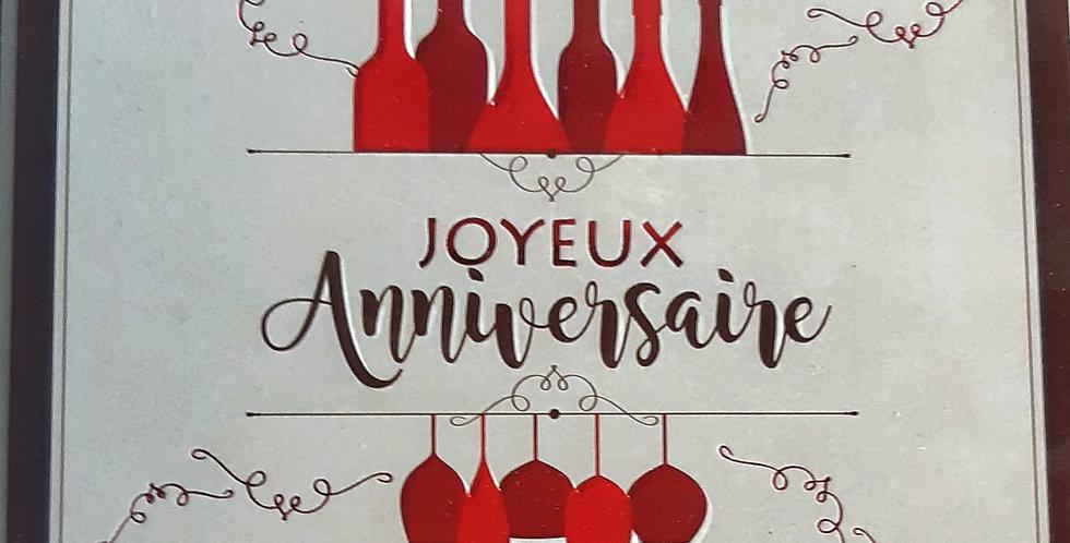"""Carte """"JOYEUX Anniversaire"""" 🍷"""