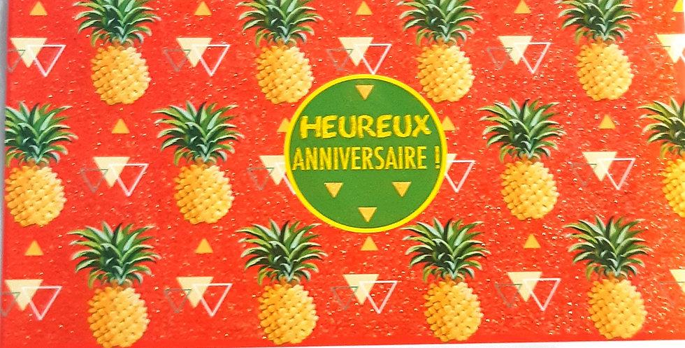 """Carte """"Heureux Anniversaire""""🍍"""