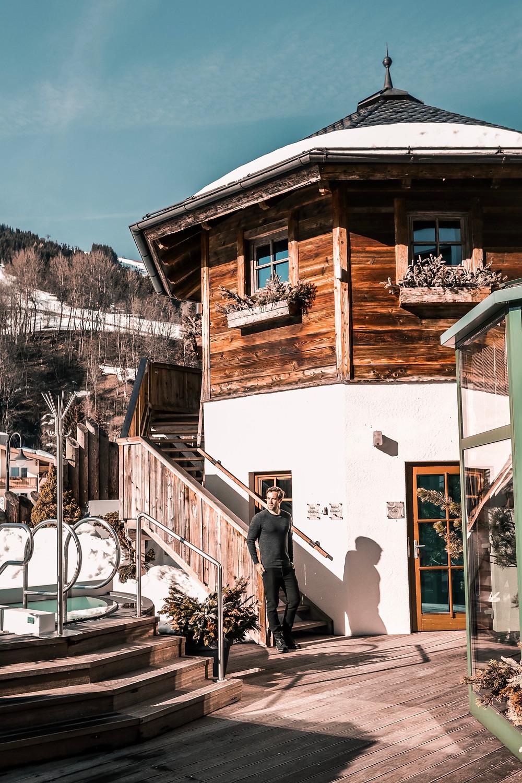 Reise Blogger Chris Fraas im Unterschwarzachhof in Saalbach-Hinterglemm