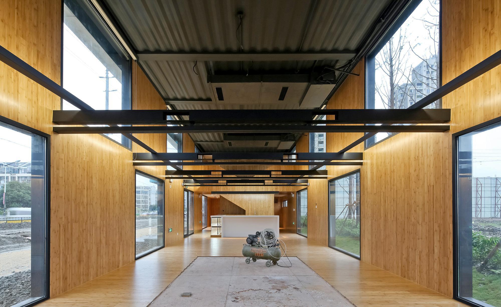 Modulare Büros und Ausstellungsflächen