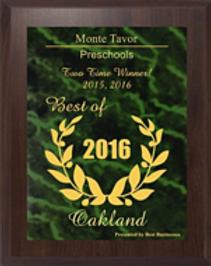 monte tavor 2015 and 2016 best preschool of oakland