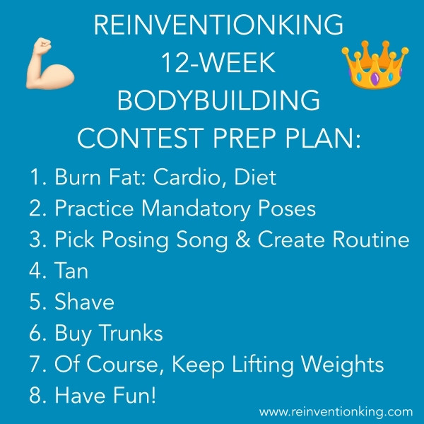 The ReinventionKing 12-Week Bodybuilding Contest Preparation Plan