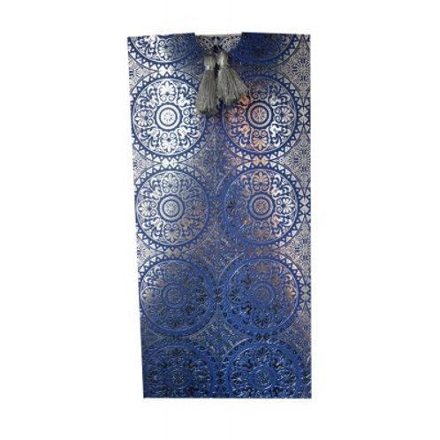Blue with Silver Foil Wedding Card RWB