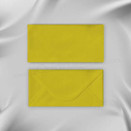Yellow envelope for matching wedding invitations