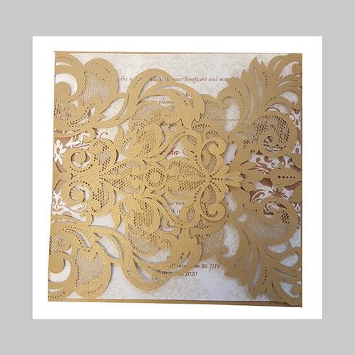 Floral Gold Laser Cut LC1006