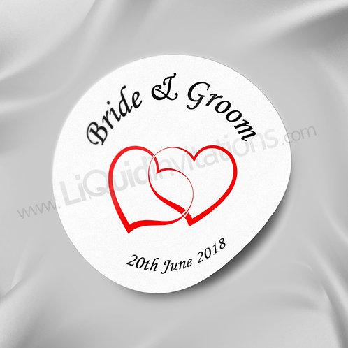 Heart Personalised wedding Sticker 03