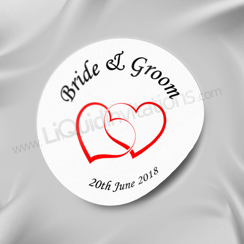 Heart personalised wedding sticker 03 wedding cards mehndi cards uk liquid invitations
