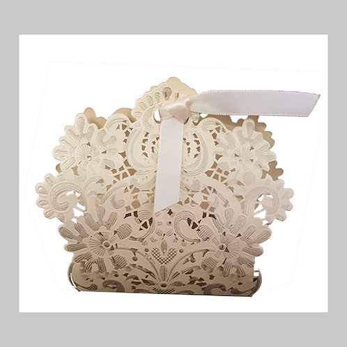 Royal Gold Laser Cut Favour Box LC001 (Gold)