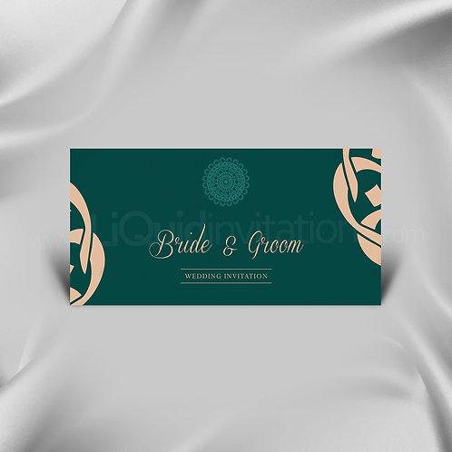 Emerald Green wedding invite QDL22