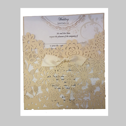 Gold Pocket with Dainty Flowers Laser Cut LC1018