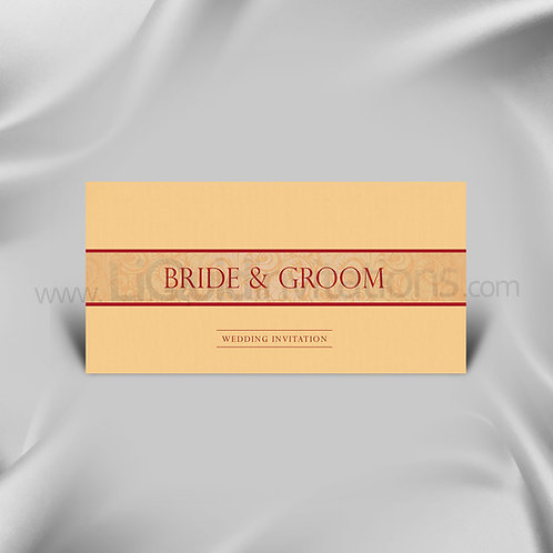 Elegant Wedding invite Cream & Red QDL08