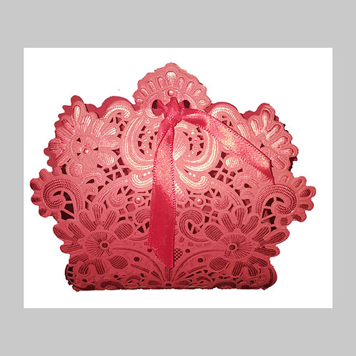 Red Laser Cut Favour Box LC001 (Red)
