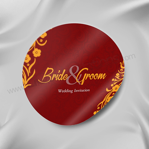 Love Red Personalised Wedding Sticker 10