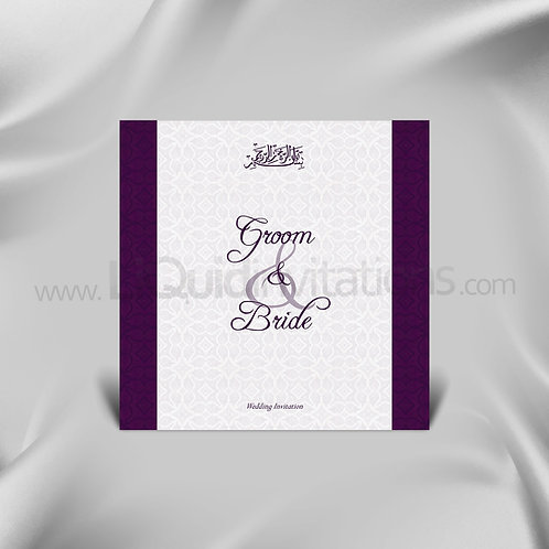 Classic Sleek Designer Wedding Card QSQ13