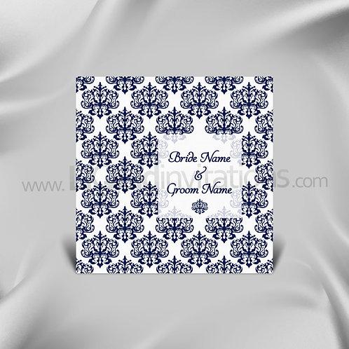 Damask Wedding Invitation QSQ16