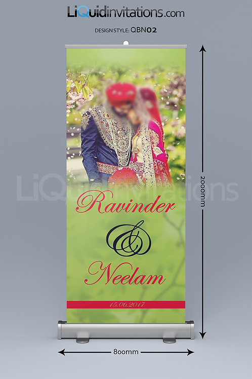 Wedding Pull up Banner QBN02