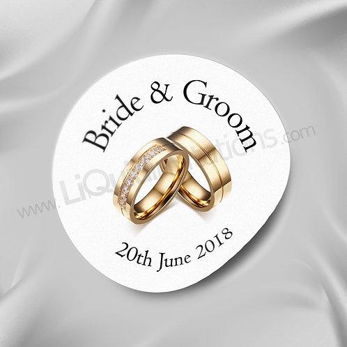 Personalised Wedding Rings envelope Sticker 02