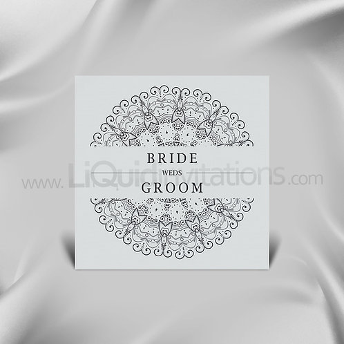 Exquisite Personalised wedding card  - White QSQ04