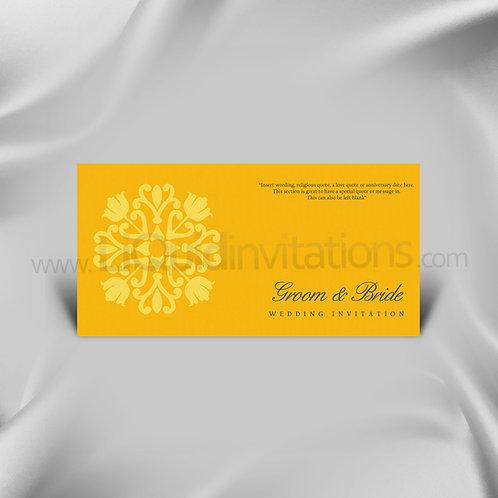 Yellow tribal single Wedding Invitation Card QDL28
