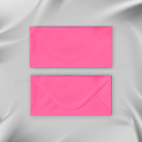 Pink wedding envelope DL