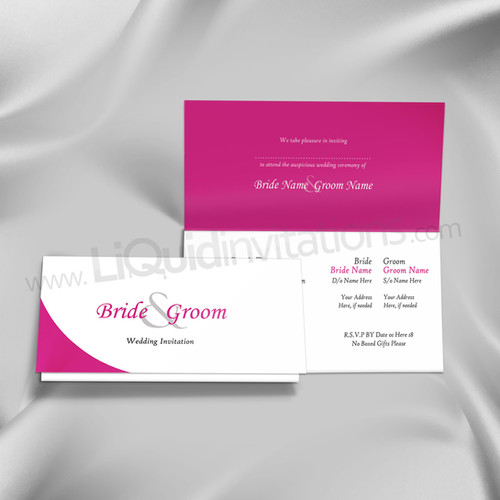 Folded wedding cards liquid invitations white cornered off wedding invitation card qtf28 stopboris Image collections