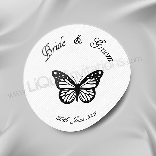 Butterfly Print Couples Wedding Sticker 08