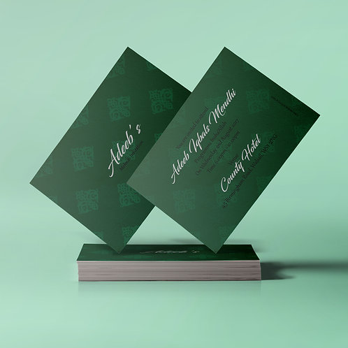 Mehndi Green & Black A7 Mehndi Invitation Card QDM10