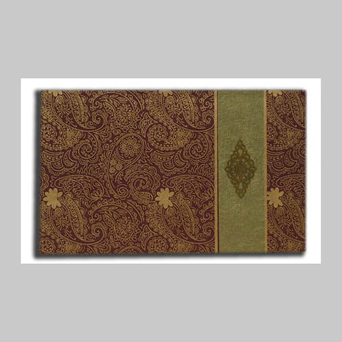 Maroon And GoldFoiled Wedding Card HW090 (Hindu Invite)