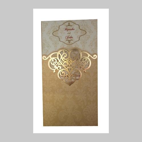 Royal Gold Pocket Laser Cut Invitation LC2002