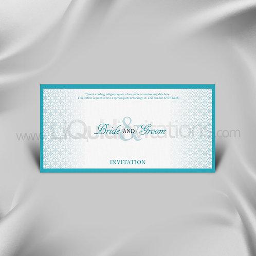 Mint personalised wedding card QDL48