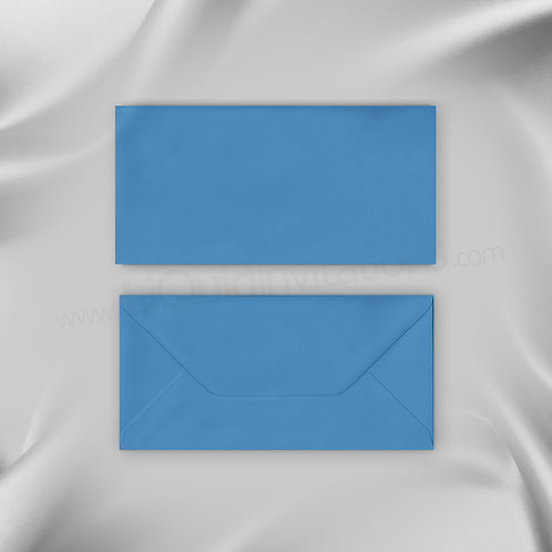 Blue DL flapped envelope