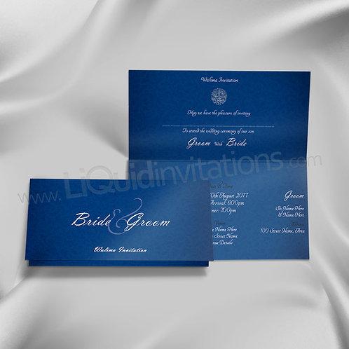 Blue and White Folded Invite QTF22