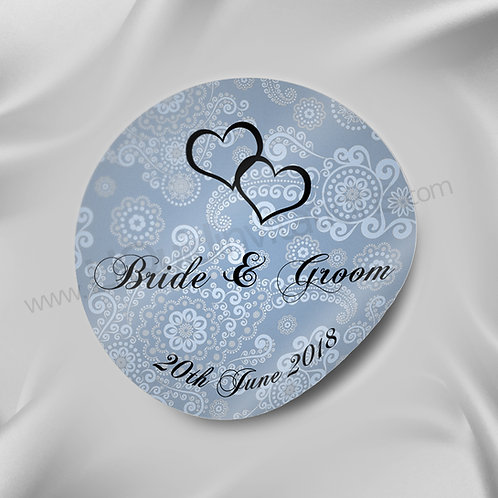 A unique patterned personalised Wedding Seal 12
