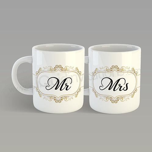 Mr & Mrs Couple Mugs QMG06