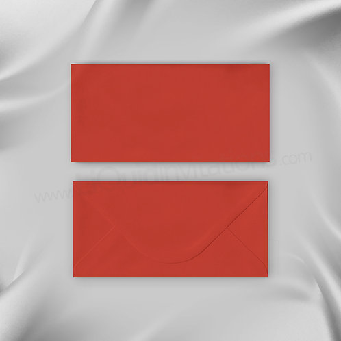 Red wedding invitation envelope DL