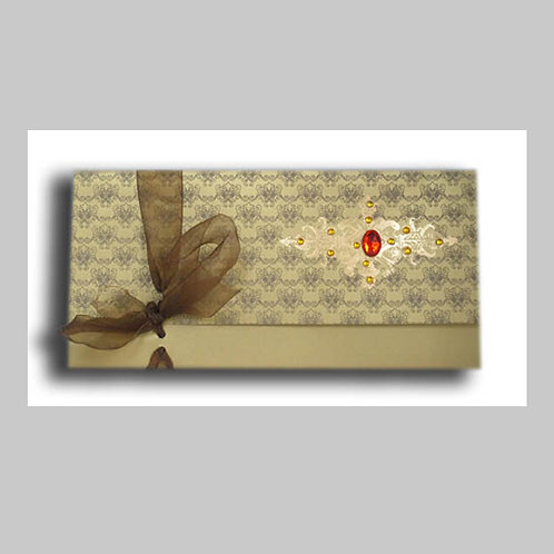 Gold Foiled Wedding Card HW085 (Hindu Invite)
