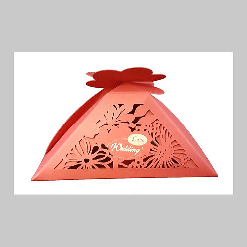 Red Laser Cut Favour (Red) LC009