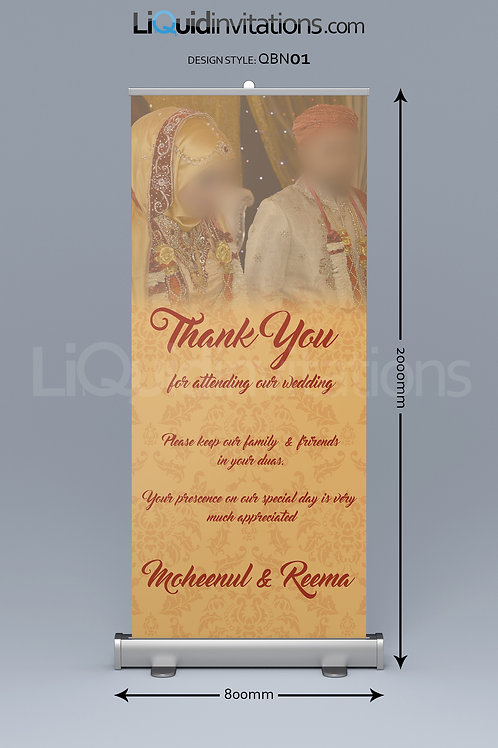 Wedding Pull up Banner QBN01
