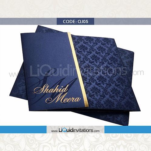 Blue Wedding Invitation Card QJI05