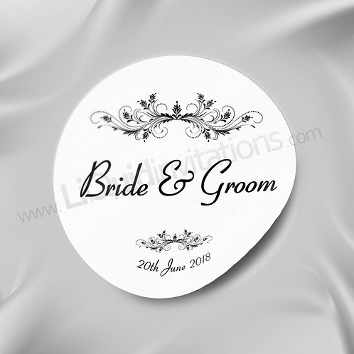 Crown crest Bride & Groom Wedding Seal 07